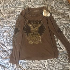 Affliction blouse NWT
